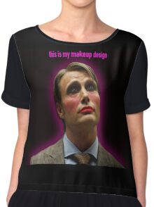 This Is my Makeup Design Chiffon Top