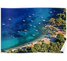 Mourtia beach - Samos island Poster