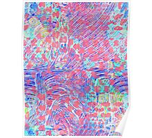 Pink Blue Abstract Colorful Design Poster