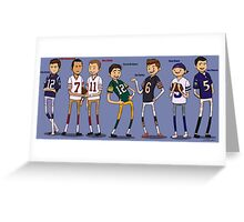 NFL Quarterbacks Greeting Card