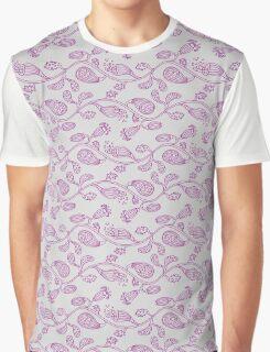 Alien Flowers Gray Graphic T-Shirt