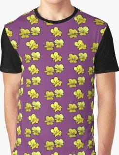 Primroses on Purple Graphic T-Shirt