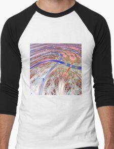Colorful Swirl - Abstract Fractal Artwork Men's Baseball ¾ T-Shirt