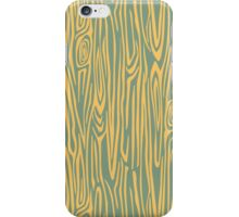 Green/yellow wooden texture iPhone Case/Skin