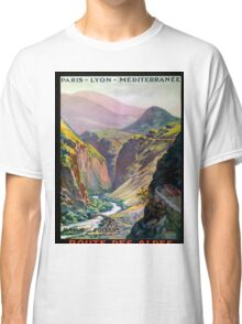 Route des Alpes, French Travel Poster Classic T-Shirt