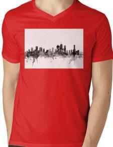 Brisbane Australia Skyline Mens V-Neck T-Shirt