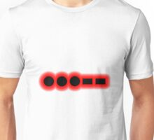 Morse Code Number 3 Unisex T-Shirt