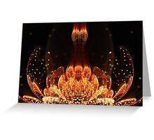 Orange Flower - Abstract Fractal Artwork Greeting Card