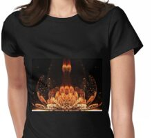 Orange Flower - Abstract Fractal Artwork Womens Fitted T-Shirt