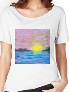Hazy, Lazy Sunset Women's Relaxed Fit T-Shirt