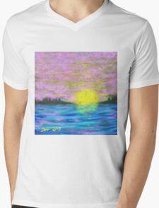 Hazy, Lazy Sunset Mens V-Neck T-Shirt