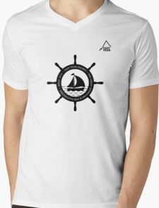 Boating t-shirt wheel - East Peak Apparel Mens V-Neck T-Shirt