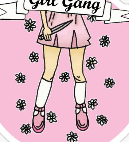 Girl Gang Badge in Baby Pink Sticker