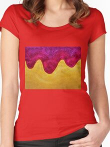 Dream of Dunes original painting Women's Fitted Scoop T-Shirt