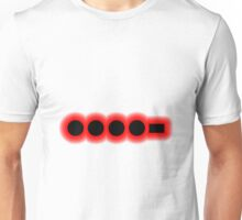 Morse Code Number 4 Unisex T-Shirt