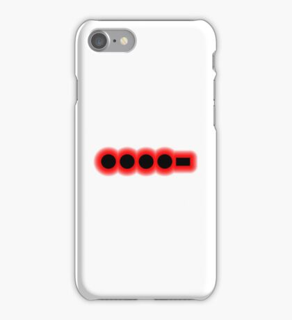 Morse Code Number 4 iPhone Case/Skin