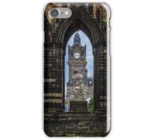 Sir Walter Scott and the clock tower iPhone Case/Skin
