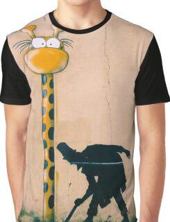 Surprised Giraffe Graphic T-Shirt