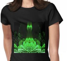 Matrix Flower - Abstract Fractal Artwork Womens Fitted T-Shirt