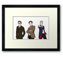Three Doctors Framed Print
