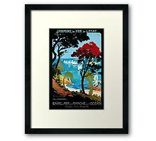 Côte D'Emeraude, French Travel Poster Framed Print