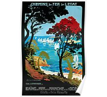 Côte D'Emeraude, French Travel Poster Poster