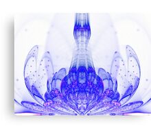 Blue Bloom - Abstract Fractal Artwork Canvas Print