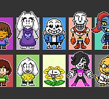 Undertale Pixels by geekmythology
