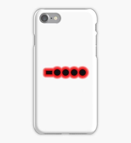 Morse Code Number 6 iPhone Case/Skin