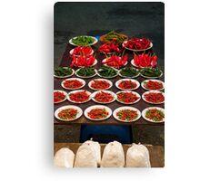 Chillies Brunei night market Canvas Print
