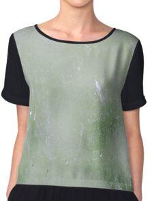 Splatter Mess Print in Green Chiffon Top
