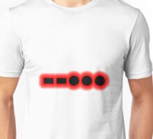Morse Code Number 7 Unisex T-Shirt