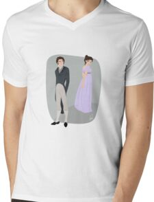 Pride and prejudice | Elizabeth Bennet & Mr Darcy Mens V-Neck T-Shirt