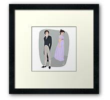 Pride and prejudice   Elizabeth Bennet & Mr Darcy Framed Print
