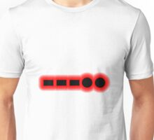 Morse Code Number 8 Unisex T-Shirt