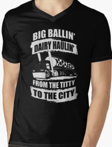 BIG BALLIN'... Mens V-Neck T-Shirt