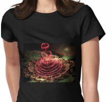 Watermelon Flower - Abstract Fractal Artwork Womens Fitted T-Shirt