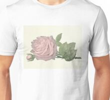 Vintage Dusty Pink Rose Unisex T-Shirt