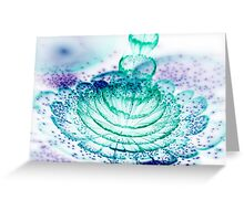 Turquoise Flower - Abstract Fractal Artwork Greeting Card
