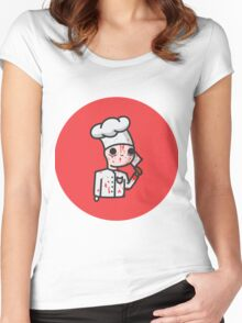 bloody chef Women's Fitted Scoop T-Shirt