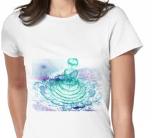Turquoise Flower - Abstract Fractal Artwork Womens Fitted T-Shirt