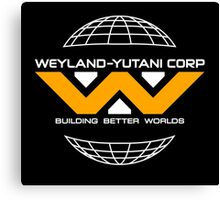 Weyland Yutani - Yellow Logo Canvas Print