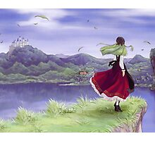 The green haired girl in red Photographic Print