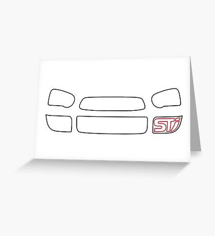 Subaru Blobeye Front end Greeting Card