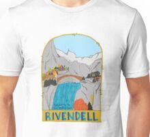 Rivendell Retro Travel Poster Unisex T-Shirt