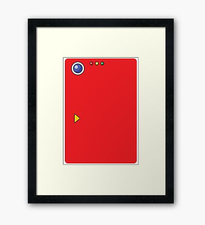 Pokedex All Over Print Framed Print