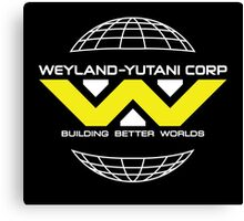 Weyland Yutani - Bright Yellow Logo Canvas Print