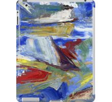 Sailing, abstract oil painting iPad Case/Skin