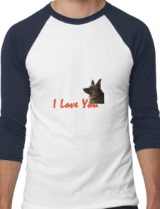 I Love My Dog Men's Baseball ¾ T-Shirt