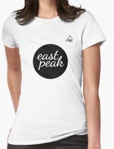 East Peak Apparel - Large Circular Logo Print Womens Fitted T-Shirt